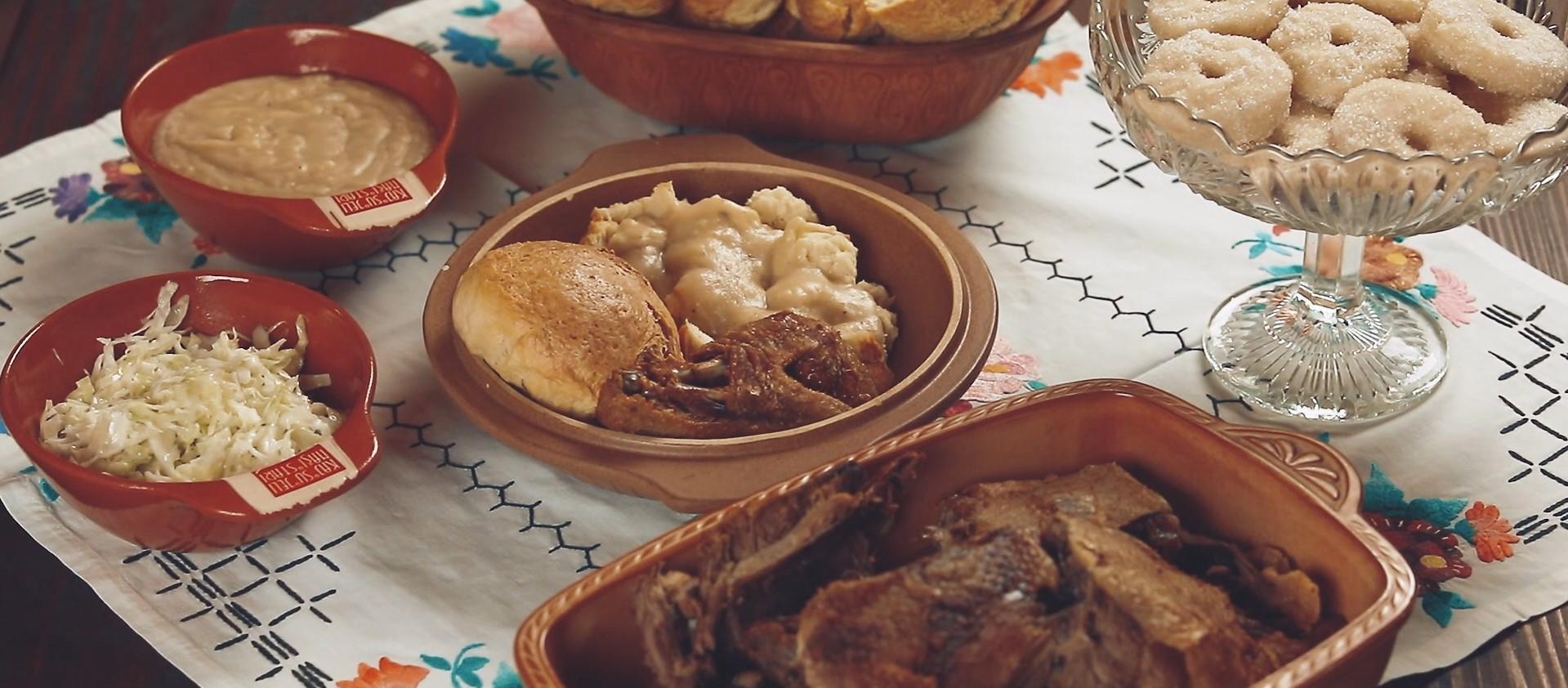Pečena raca i kolači